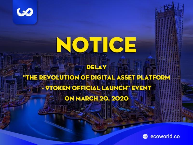 Rescheduling 9TOKEN event